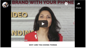 HOW TO CREATE A MILLION DOLLAR BRAND WITH YOUR PHONE